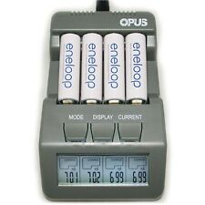 Opus BT C700 Digital Intelligent 4 Slot Li-ion NiCd NiMh LCD Battery Charger EU