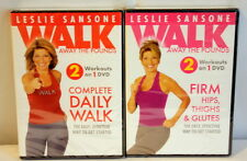 Lot of Two Leslie Sansone Walk Away the Pounds Workout DVDS