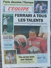 L'Equipe du 14/4/1998 - Paris - Ferrari - Agassi - Bourges - Museeuw