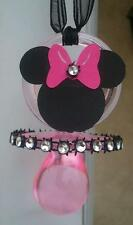 MINNIE MOUSE PACIFIER NECKLACES BABY SHOWER FAVORS