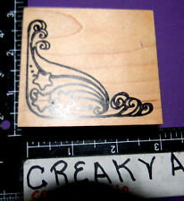 STAR SWIRL CORNER RUBBER STAMP CC RUBBER DESIGNS