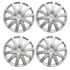 "HONDA JAZZ 01-08  14"" Wheel Trims Covers + Valve Caps & Ties Silver"