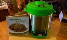 Simply Ming Premiere Gourmet Pressure Cooker Technolon & Bonus Cookbook - GREEN