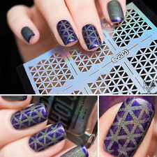 12 Tips/Sheet Geo Design Nail Vinyls Manicure Nail Art Stencil Sticker DIY #204