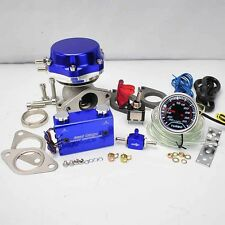 """BLUE WASTEGATE 8+6LB SPRING +DUO SWITCH BOOST CONTROLLER +2"""" LED BOOST GAUGE"""
