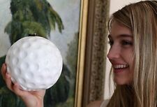 TIMMY WOODS MINAUDIERE CLEAN DIMPLED GOLF BALL WHITE CLUTCH CROSS BODY BAG