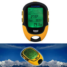 Waterproof FR500 Multifunction LCD Digital Altimeter Barometer Compass Clock NEW
