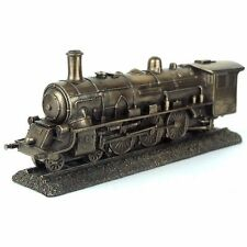 "Steampunk Train Steam Engine Figurine Miniature 10""L New"