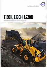 Volvo Construction L150H 07 / 2015 catalogue brochure loader chargeur