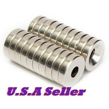 12mm X 3mm Countersink Hole 4mm 20Pcs Strong Ring Magnet Rare Earth Neodymium