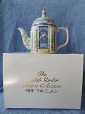 1994 Lenox The English Garden Fine Porcelain Aviary Teapot --NIB