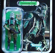 Star Wars Vintage Clone Commander Gree VC43 ROTS Unpunched MOC Retro TVC Figure