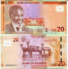 Namibia - 20 dollars - UNC currency note - 2015 issue