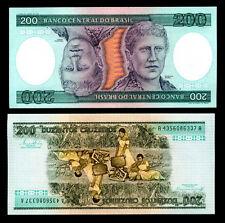 BRAZIL 200 CRUZEIROS ND 1981-1984 P 199 UNC