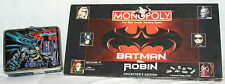 1997 BATMAN ROBIN MONOPOLY COLLECTORS EDITION & BATMAN TIN LUNCHBOX 7.5""
