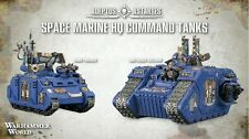 Warhammer world exclusive space marine qg commandement tanks