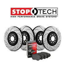 Front & Rear StopTech Drilled Slotted Brake Rotors + Pads Kit 935.42010 350Z G35