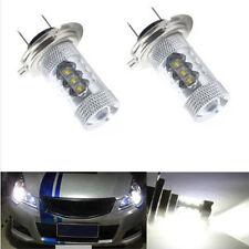 2pcs UPSCALE 80W H7 LED WHITE 6500K BULBS HEADLIGHT LIGHT LAMP CANBUS ERROR FREE