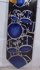 Drum Kits blue on Black Tie