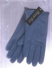 NEW LADIES VECCI LIGHT BLUE NAPPA LEATHER GLOVES (SIZE MEDIUM/LARGE/LINED)