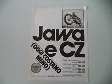 advertising Pubblicità 1978 MOTO JAWA 350 e CZ TRAIL