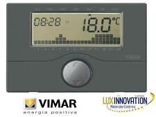 VIMAR 01910.14 CRONOTERMOSTATO A BATTERIE  PARETE ANTRACITE 01910.14 VIMAR