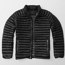 Abercrombie and Fitch Ultra Lightweight Down Black Puffer Jacket - Medium