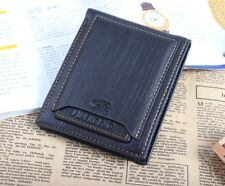 Fashion Men's Leather Purse Pockets ID Card Clutch Cente Bifold Wallet Black L7