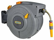 Hozelock 20m auto rewind hose reel wall mounted for garden patio watering
