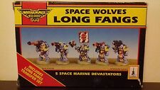 Rouge Trader Space Wolves Long Fangs OOP, Original Box, Not Assembled or Painted