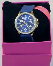 Juicy Couture Women's 1900962 Watch w/Blue Silicone Strap - NEW - FREE Shipping