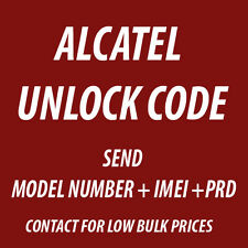 ALCATEL UNLOCK CODE FOR OneTouch Idol 2S 6050A OT-6050 Telus Bell Koodo Virgin