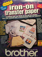 BROTHER IRON-ON TRANSFER PAPER  8 SHEETS