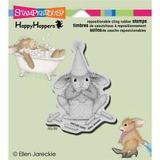 New HAPPY HOPPER RUBBER STAMP cling House Mouse CAKE NIBBLER Free us s