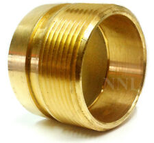 "2-1/2"" MALE NPT TO GROOVE BRASS  FDC or HYDRANT ADAPTER NIPPLE"