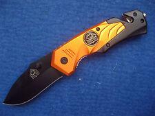 PUMA TEC Rettungsmesser AISI 420 Stahl Gurtschneider Taschenmesser NEU 333811