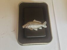 F35 Common Carp  emblem on a flip top petrol lighter windproof black