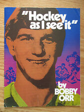 """BOBBY ORR """"Hockey as I see it"""" Magazine BOSTON BRUINS Compliments of PEPSI-COLA"""