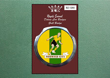 Royale Modern Classic Car Grill Badge B2.1260  NORWICH CITY FOOTBALL 1960's