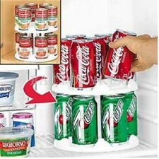 Can Tamer 2 Tier Food Beverage Can Carouse Fridge Space Saver Organizer Canister