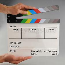 Acrylic Clapboard Director Film Movie Video Action Clapper Board Handmade Slate