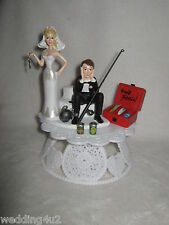 Wedding Party Ball Chain Cake Topper ~Drunk Groom~  Fishing Fisherman Beer Cans