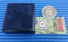 1994 Singapore 25 Years of Operational Ready National Service Silver Medallion