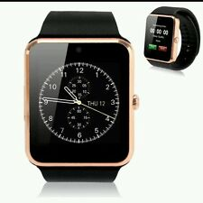 2016 GT08 Touch Screen Bluetooth Smart Wrist Watch Phn Mate 4 Android & IOS-Gold
