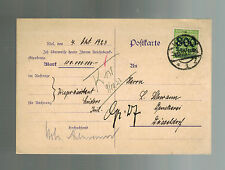 1923 Koln Germany Inflation Postcard cover to Dusseldorf 800000  RM