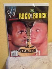 WWE ROCK VS BROCK SUMMERSLAM 2002 MAGAZINE SUMMER SLAM WRESTLING BOOK WWF