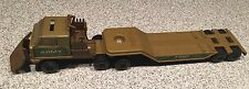 Vintage 1980s 1/43 Tonka Army Transport Trailer Truck Pickup Plow