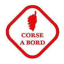 stickers autocollant voiture auto tuning humour corsica CORSE A BORD rouge