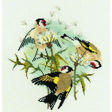 Derwentwater Designs Birds Cross Stitch Kit - Goldfinches & Thistles