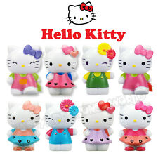 8Pcs Hello Kitty Cat Action Figures Mini Figurines Display Toy Doll Cake Topper